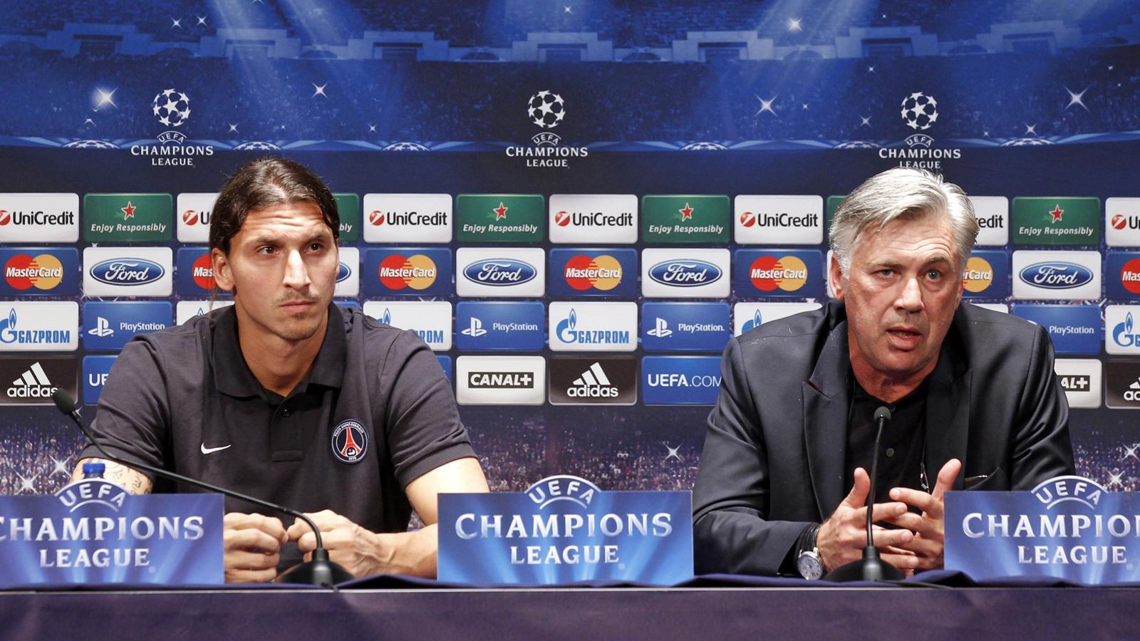 Image result for zlatan ibrahimovic ancelotti