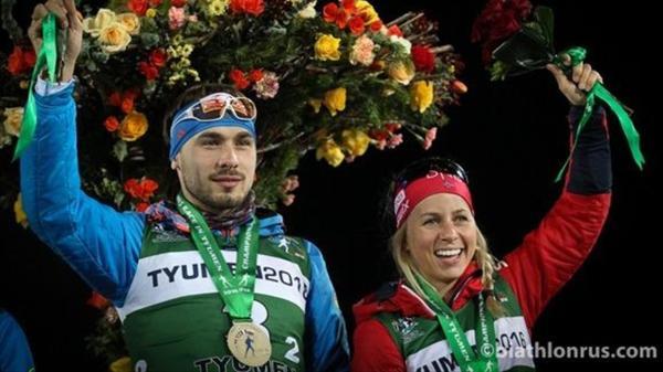 Антон Шипулин и Тириль Экхофф заняли третье место в ...