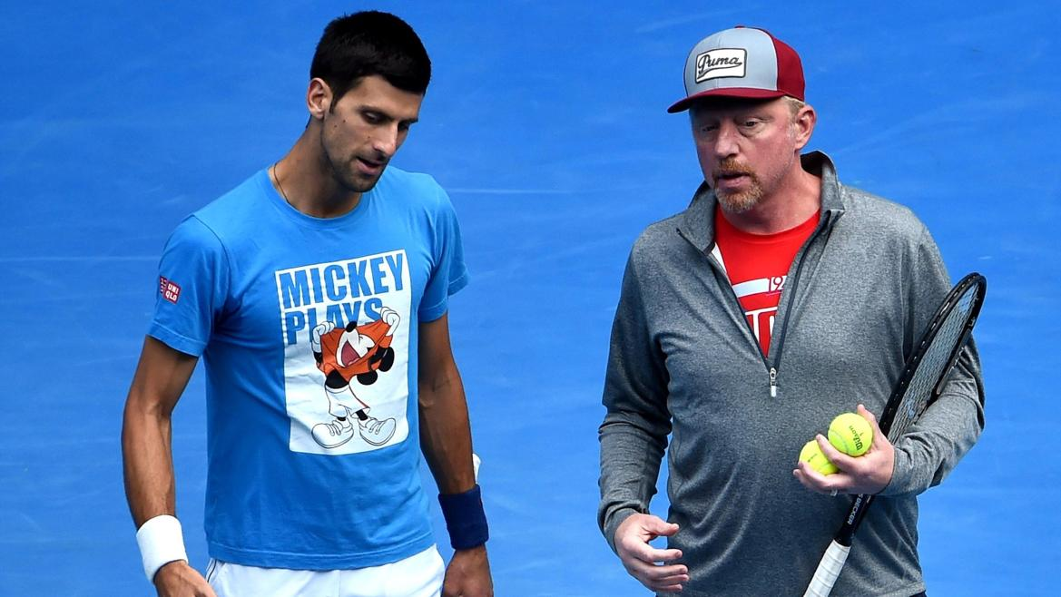 Novak Djokovic et Boris Becker