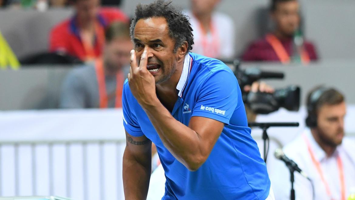 Yannick Noah lors de la demi-finale Croatie-France