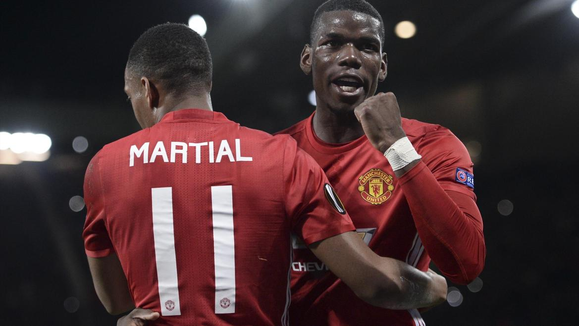 Paul Pogba, Anthony Martial (Manchester United)