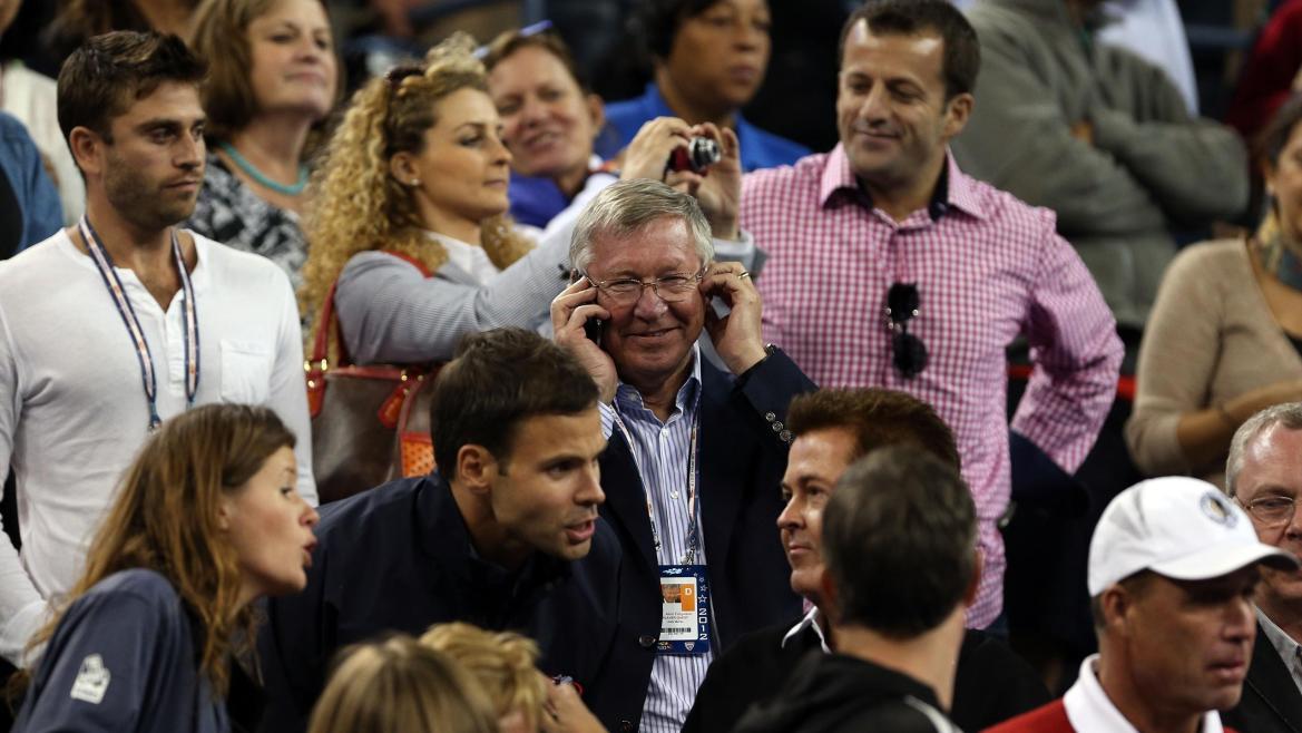 Sir Alex Ferguson à l'US Open 2012