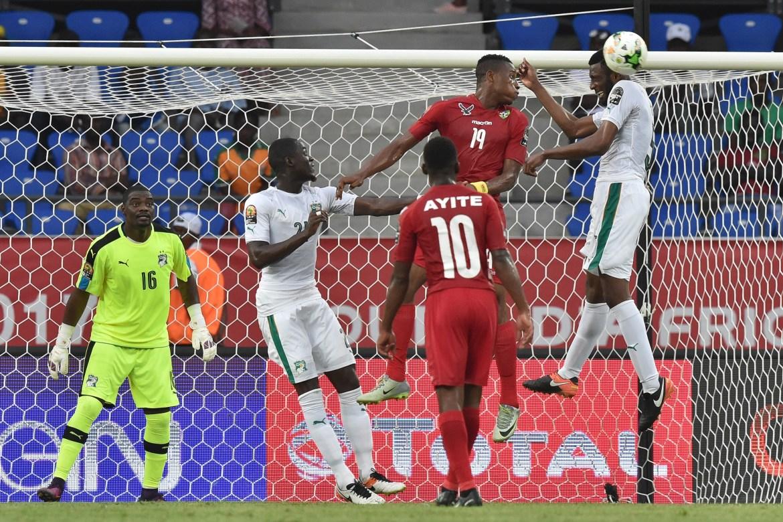 Wilfried Kanon, Kodjo Fo-Doh et Kossi Agassa Laba lors de Cote d'Ivoire - Togo lors du 1er tour de la CAN 2017