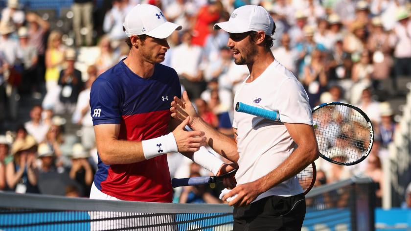 Image result for Andy Murray stunned by Jordan Thompson at Queen's