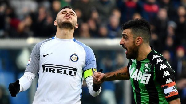 Inter, delusione di Icardi dopo la sconfitta contro il Sassuolo | Numerosette.eu