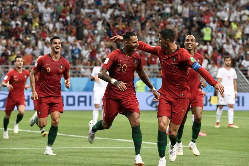 Ricardo Quaresma et Cristiano Ronaldo lors de Portugal - Iran lors de la Coupe du monde 2018