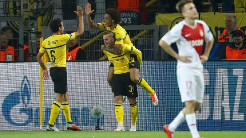 La joie de Dortmund face à Monaco