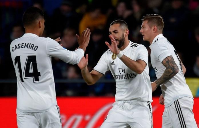 Benzema et Casemiro à Villarreal - Real Madrid en Liga