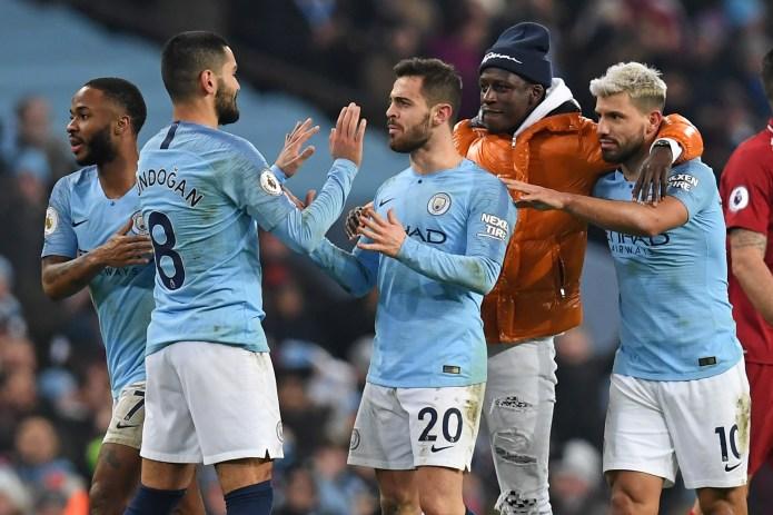 Sergio Aguero buteur de Manchester City contre Liverpool en Premier League le 3 janvier 2019