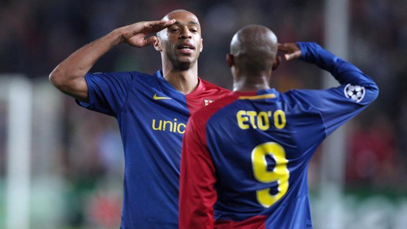 Thierry Henry et Samuel Eto'o