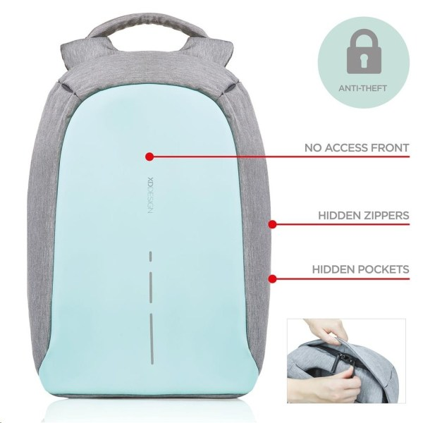 XD Design Bobby Compact Anti-Theft Backpack (Mint Green ...