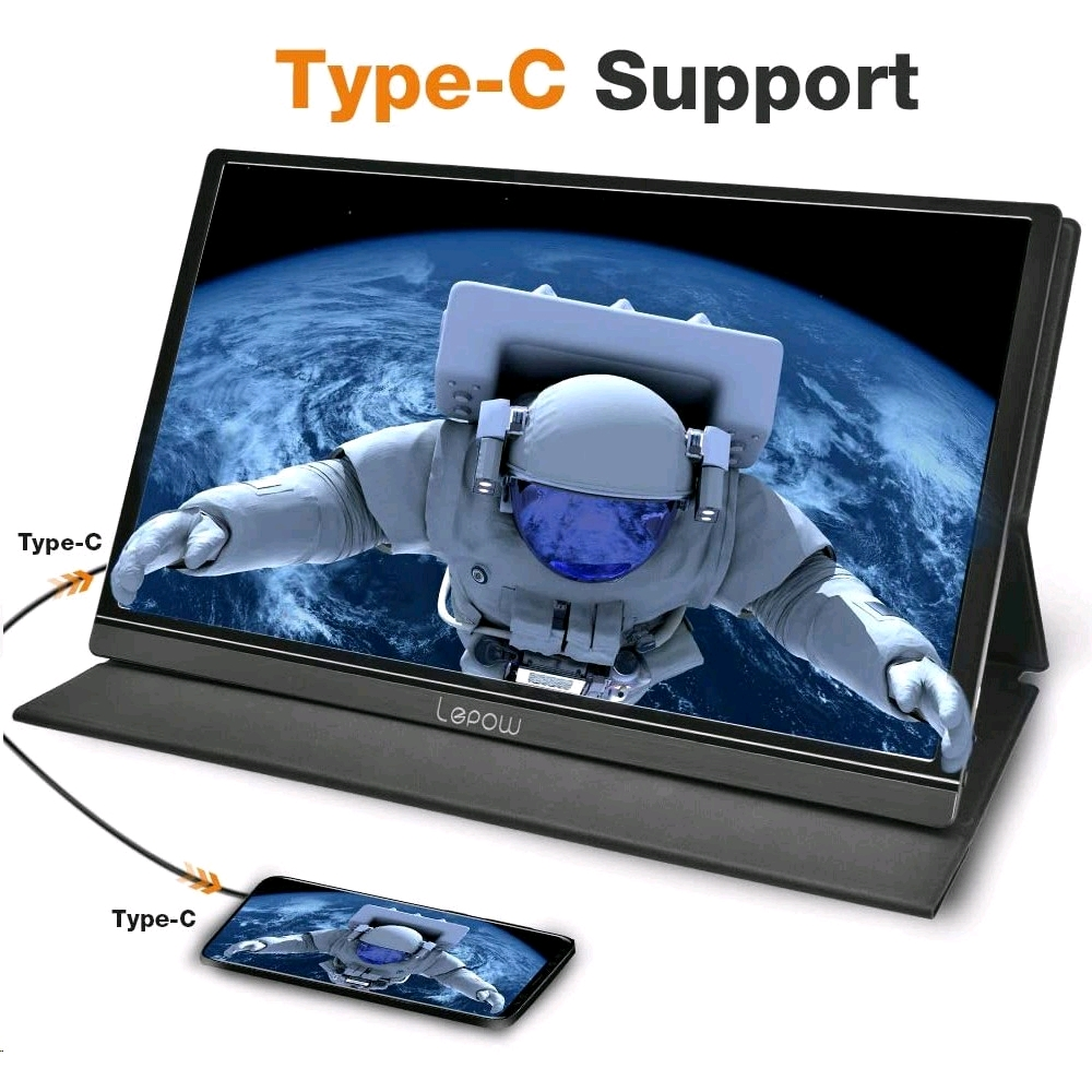 Lepow Portable Monitor – 15.6 Inch Full HD 1080P USB Type-C Computer Display (黒) - EXPANSYS Japan