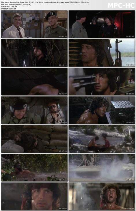 Rambo First Blood Part II 1985 Dual Audio Hindi