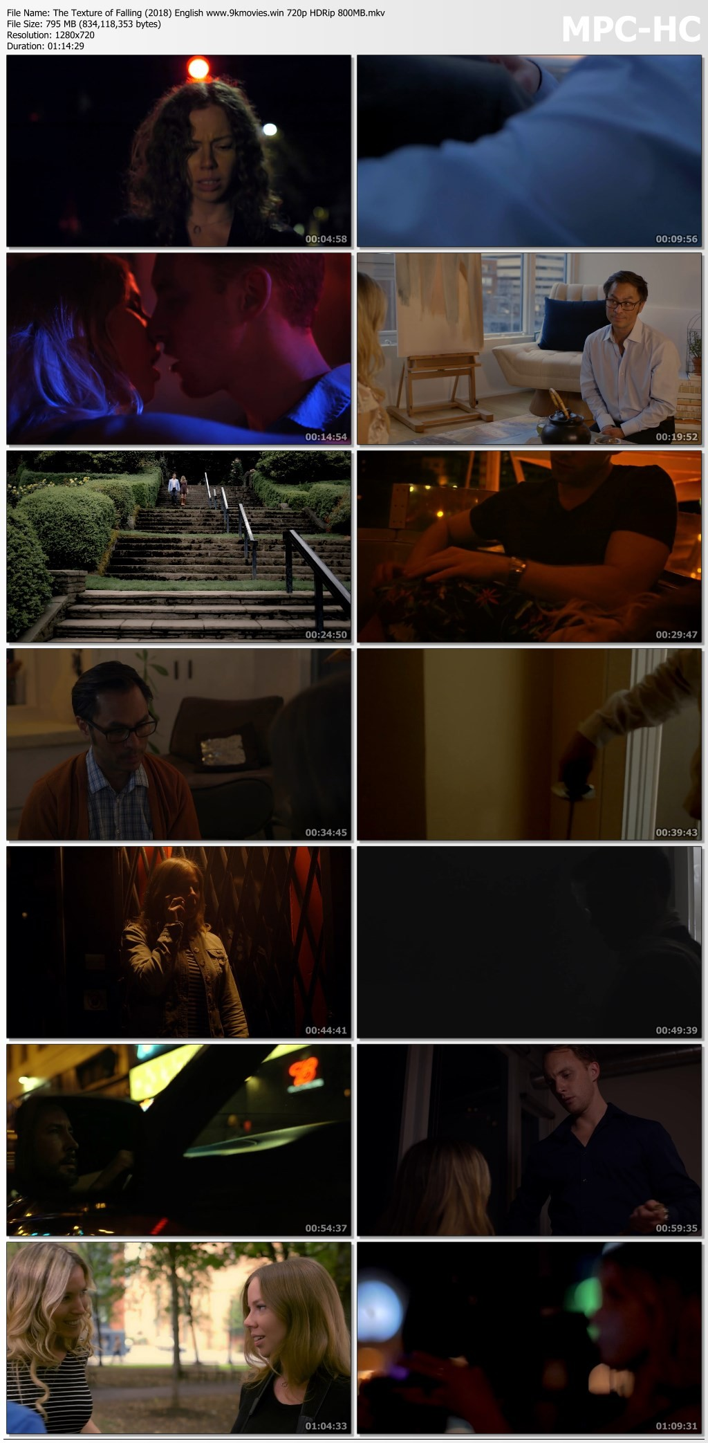 18+ The Texture of Falling 2018 English Movie 720p/480p HDRip Download