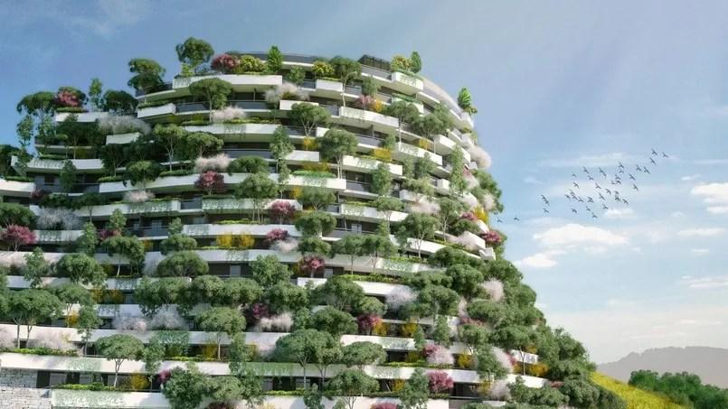 Le projet «Moutain forest hotel» destiné à la ville de Guizhou: ce bâtiment de 31.200 m² abrite un hôtel de 250 chambres.