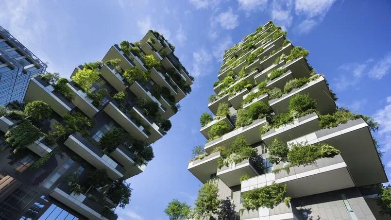 La «forêt verticale» de Milan dans le nouveau quartier des affaires de Porta Nuova.