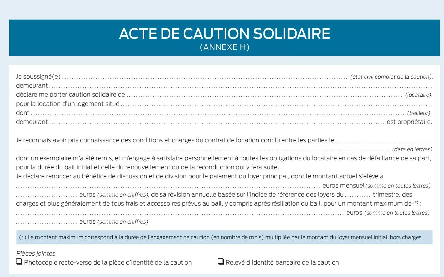 Location Fin De La Mention Manuscrite Pour Lacte De Caution