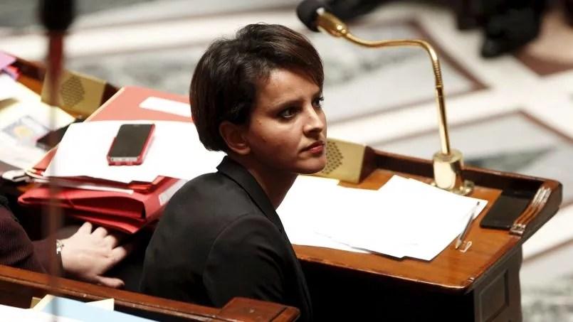 Najat Vallaud-Belkacem, lors de la séance des questions au gouvernement à l'Assemblée nationale, en novembre.