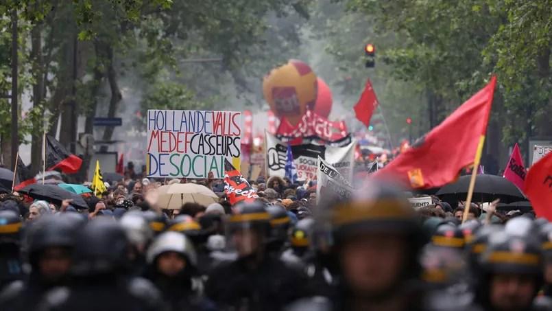 La manifestation de jeudi dernier, à Paris.