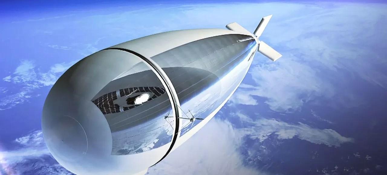 Stratobus, plateforme stratosphérique, mi-drone, mi-satellite.