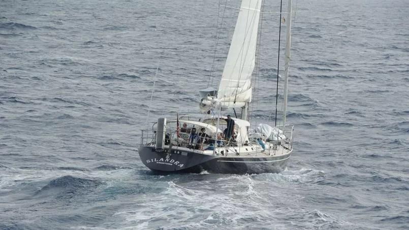 La cargaison était dissimulée dans le voilier <i>Silandra</i> battant faux pavillon américain.