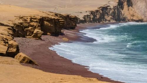 Ocres intenses et bleu profond: le désert rencontre l'océan sur la presqu'île de Paracas. Pélicans, sternes incas, fous variés et otaries à crinière se côtoient dans ce spectaculaire sanctuaire marin et ornithologique.
