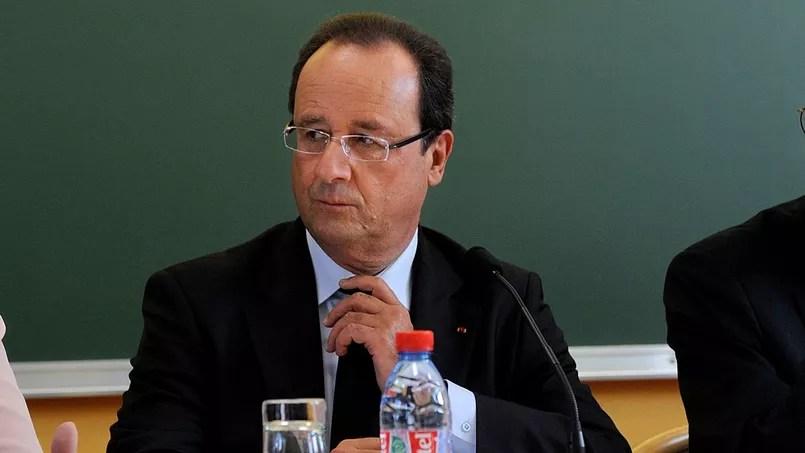 Le président de la République François Hollande lors d'un déplacement à la rentrée 2013.
