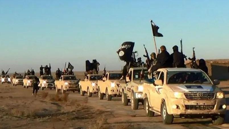Des combattants de Daech aux alentours de Raqqa en Syrie