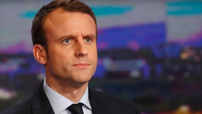 Emmanuel Macron sur le plateau de TF1, le 1er février 2017.