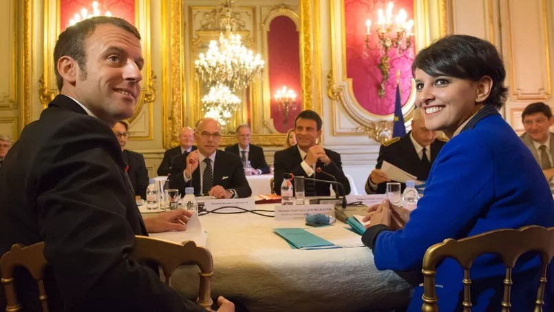 """Résultat de recherche d'images pour """"photos de Belkacem et Macron"""""""
