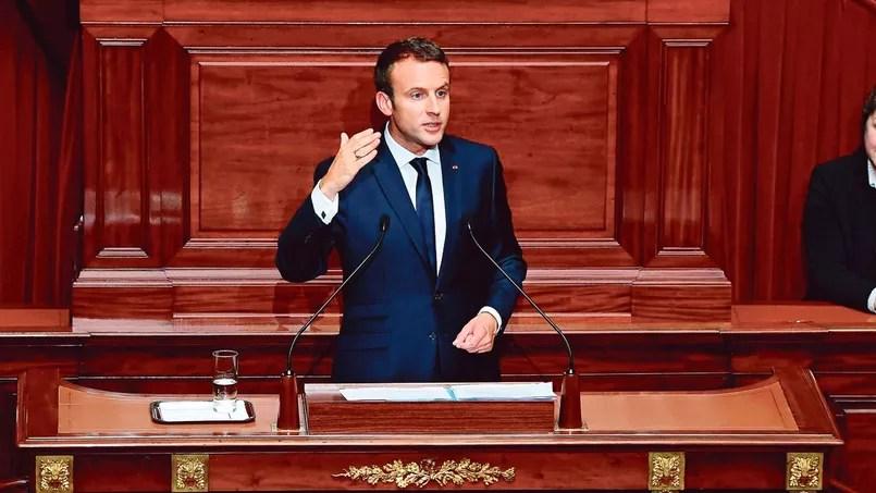 «Nous n'avons pas devant nous cinq ans d'ajustements et de demi-mesures», a prévenu Emmanuel Macron, lundi, devant les parlementaires réunis en Congrès à Versailles.