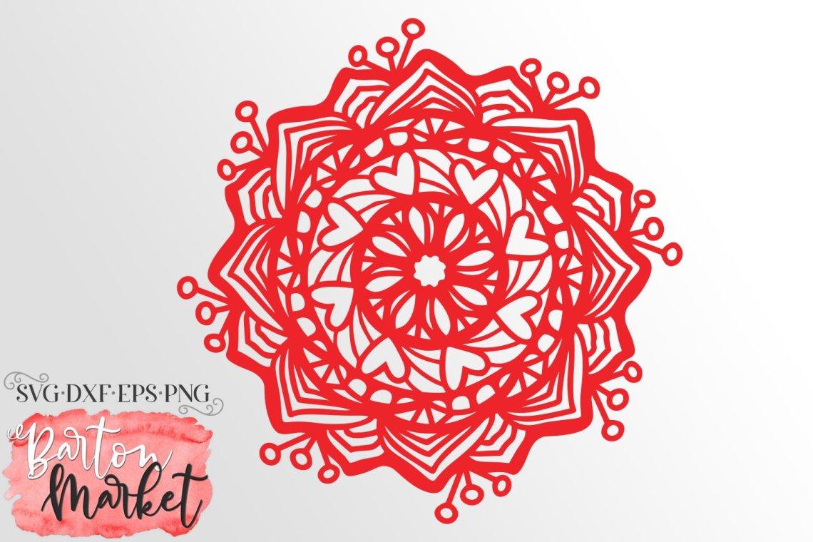 Download So In Love Mandala SVG DXF EPS PNG (550925) | Cut Files ...