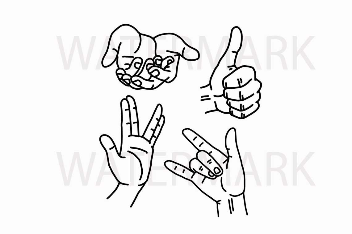 Download I Love You Asl Sign Silhouette Svg / Pin On Valentine S ...