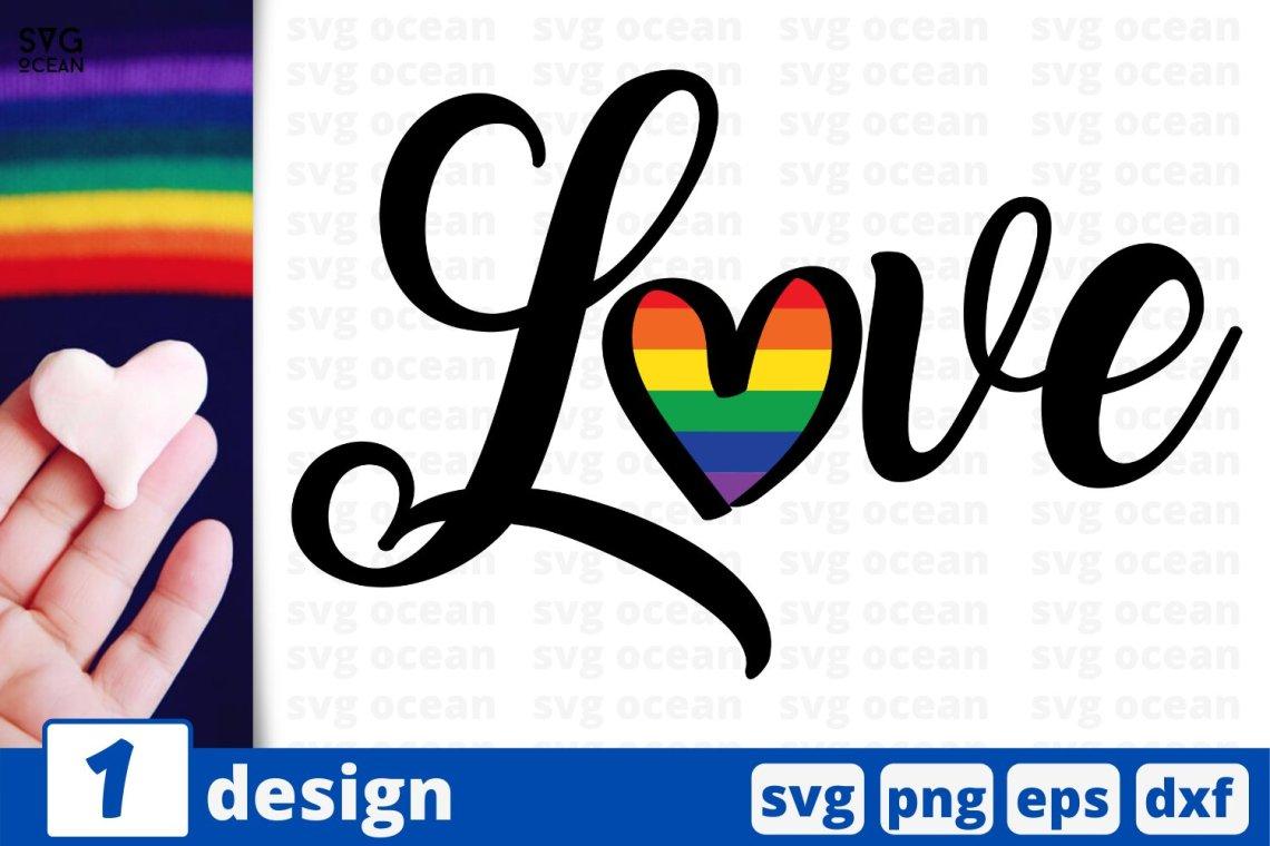 Download Rainbow love sign SVG cut file | Rainbow heart cricut ...