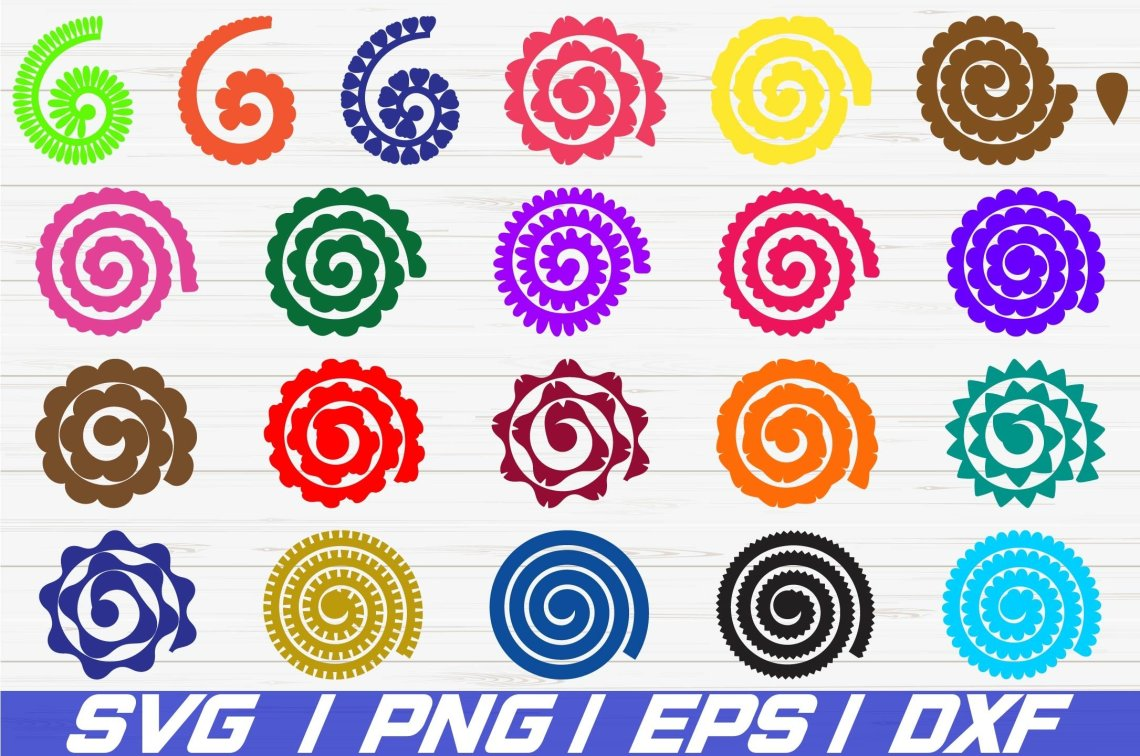 Download 21 Rolled Paper Flowers SVG / Cut File / Flowers Template ...