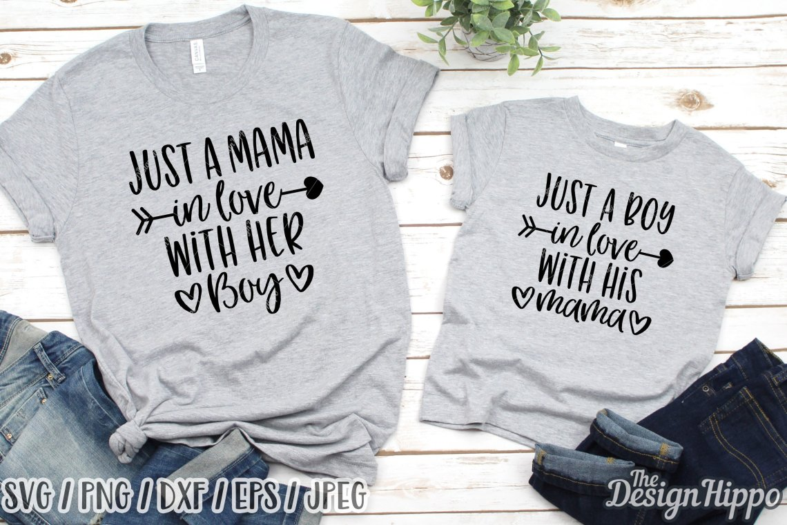 Download Just A Boy In Love With His Mama SVG, Mommy & Me SVG DXF ...