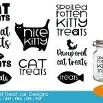 Cat Treat Jar Designs 136732 Cut Files Design Bundles
