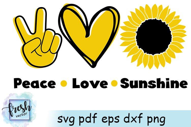 Download Peace Love Sunshine SVG Sunflower Svg Summer Svg Flower ...