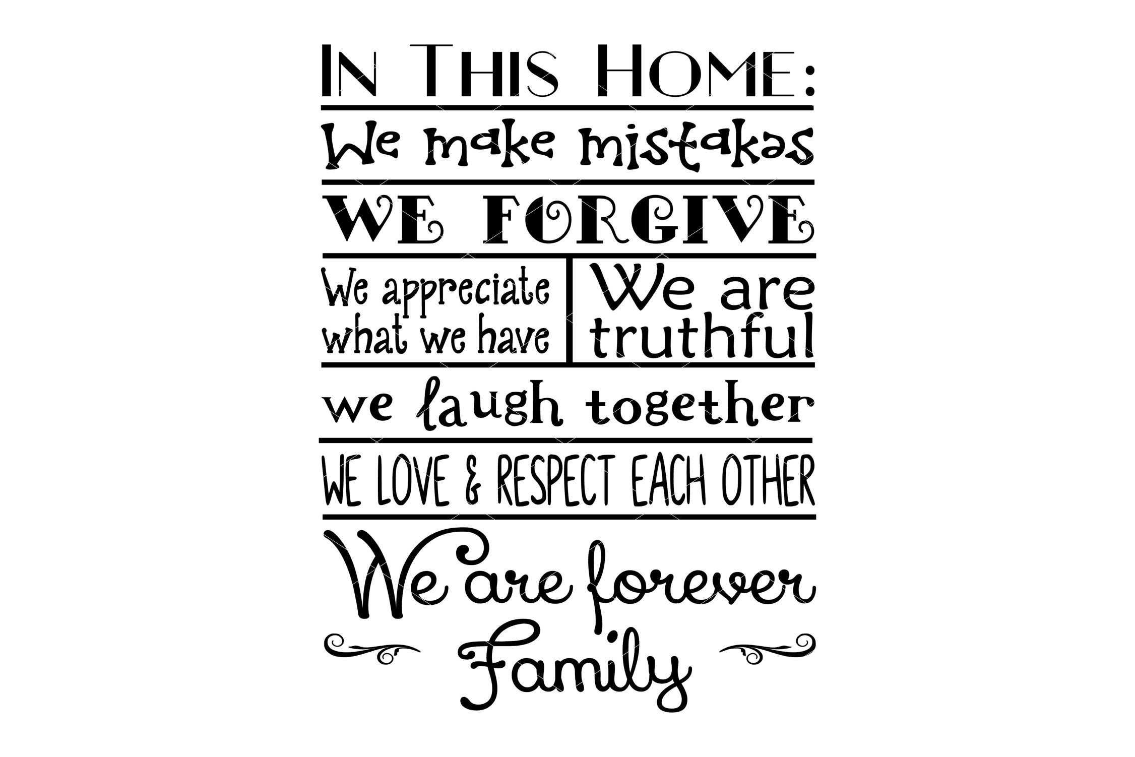 House Rules Farmhouse Svg Printable And Sublimation
