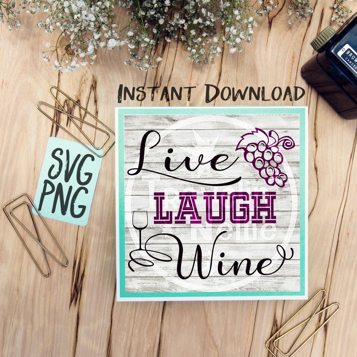 Download Live Love Wine SVG PNG for Cutting Machines Cricut Cameo ...