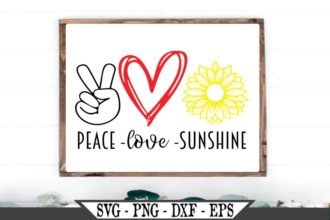 Download Peace Love Sunshine Sunflower Flower SVG (644269) | SVGs ...