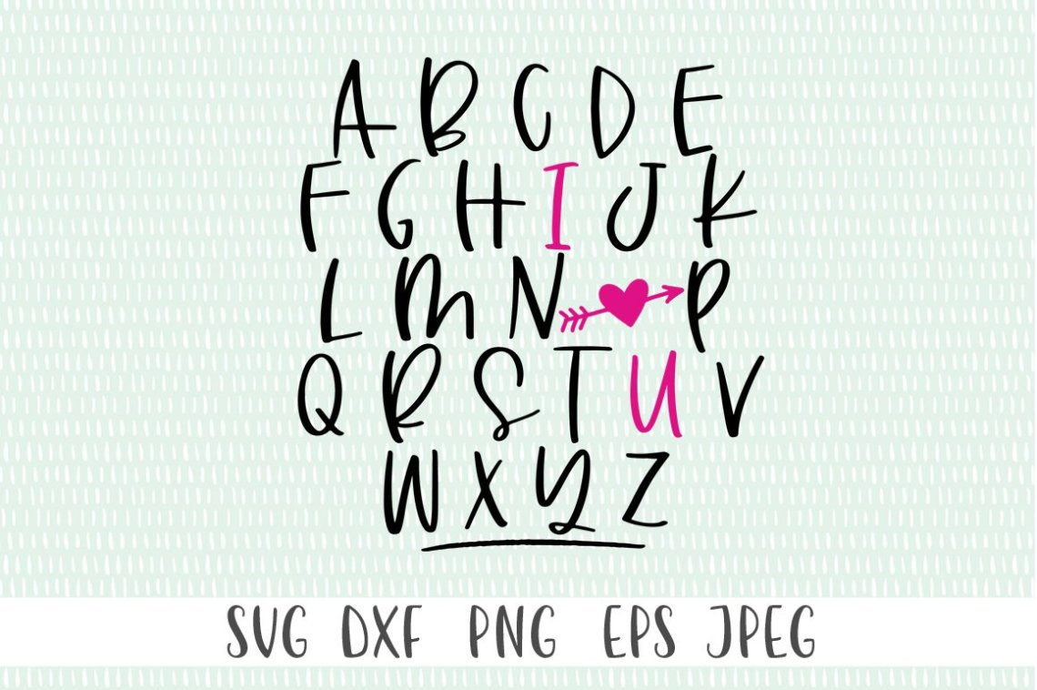 Download ABC I Love You SVG - Valentine's Day SVG, Valentine SVG ...