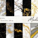 Marble Digital Papers Gold Black White Marble Backgrounds 483086 Backgrounds Design Bundles