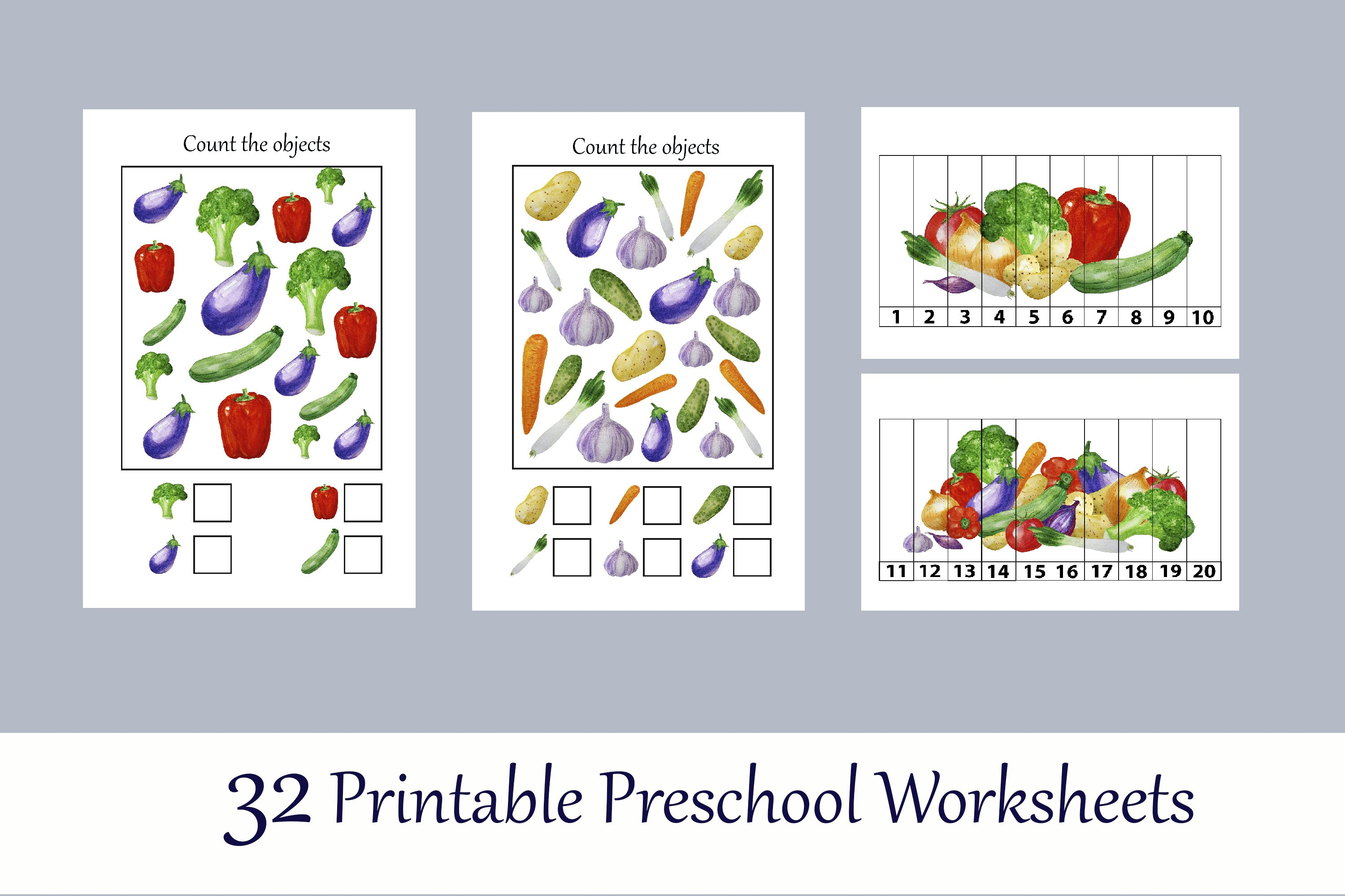 Toddler Learning Workbook Vegetables Busy Book
