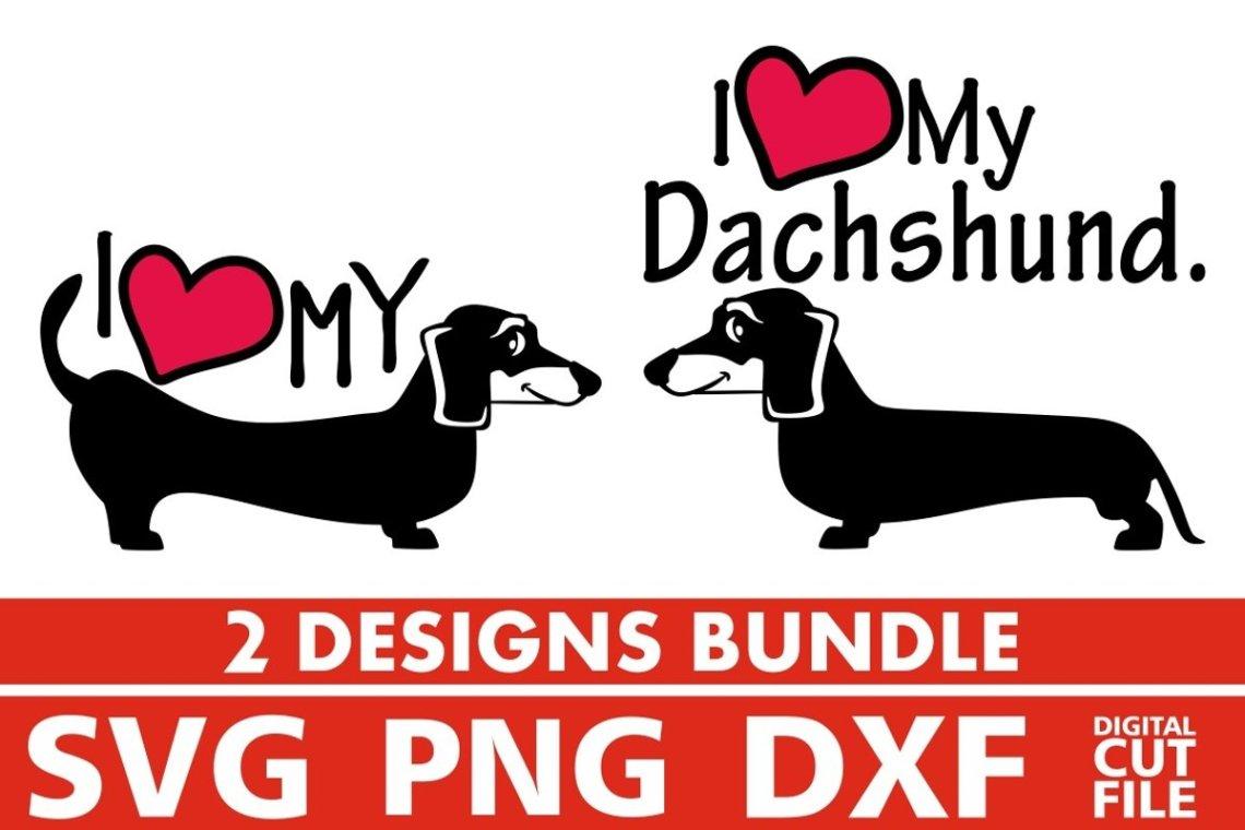 Download 2x Love Dachshund Bundle svg, Dog Breed svg, Dog On Board ...