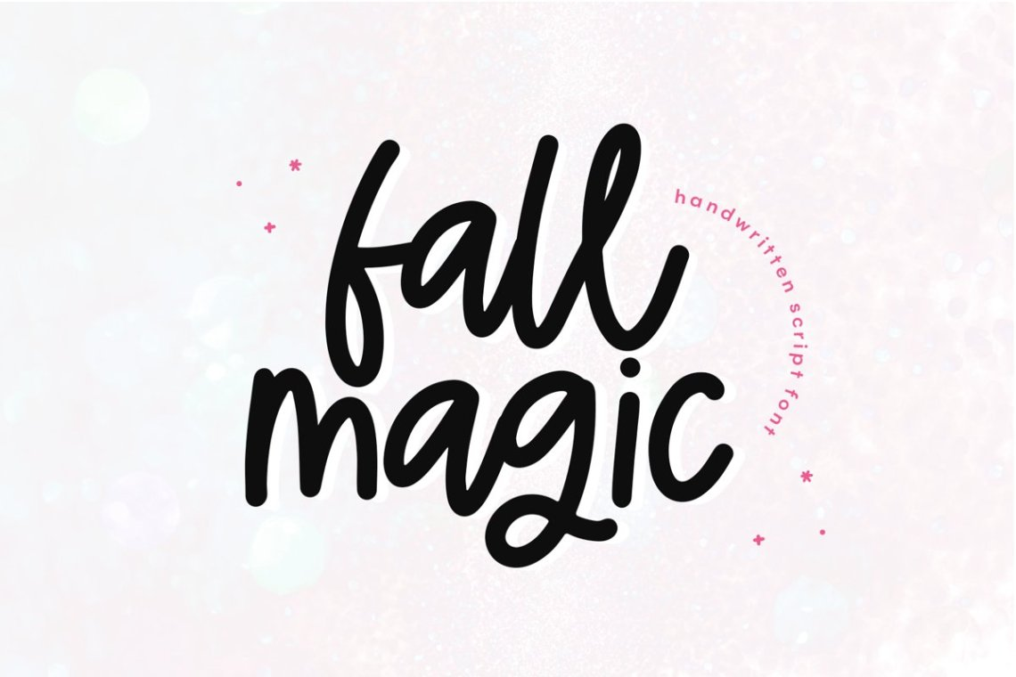 Download Fall Magic - A Handwritten Script Font