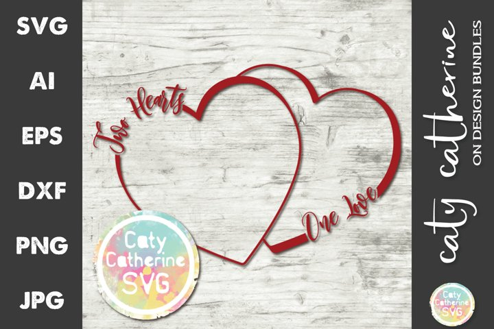 Download Two Hearts One Love SVG Cut File (628892) | SVGs | Design ...