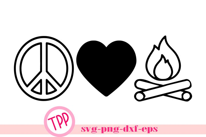 Download Camping design Peace Love Camp svg png dxf eps (695304 ...