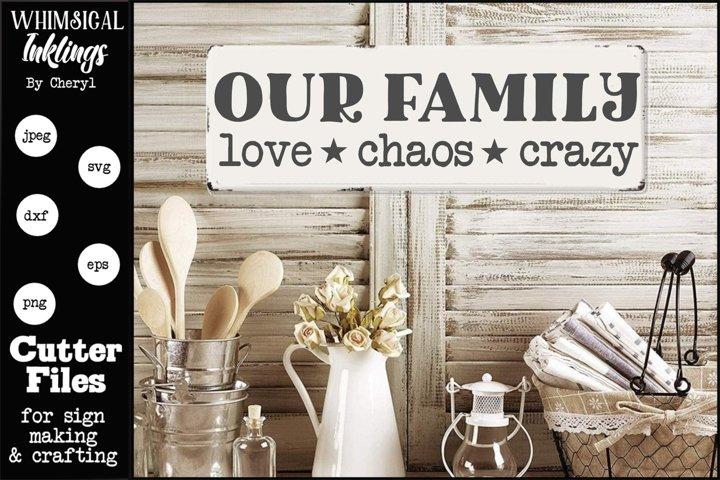 Download Love Chaos Crazy SVG (654941) | SVGs | Design Bundles