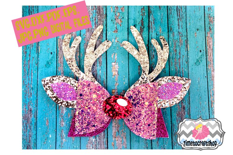Reindeer Antler Hair Bow Template Svg Dxf Pdf Eps Jpg 133870 Svgs Design Bundles